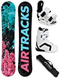 AIRTRACKS DAMEN SNOWBOARD SET - BOARD POLYGONAL 144 - SOFTBINDUNG STAR W - SOFTBOOTS STRONG W 39 - SB BAG