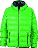 James & Nicholson Herren Jacke Daunenjacke Men's Down Jacket grün (green/carbon) X-Large