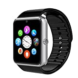 AsiaLONG Sport Smartwatch Bluetooth Smart Uhr Watch Fitnessarmband mit 1.54 Zoll Display / SIM Kartenslot / NFC / Schrittzähler / Schlafanalyse / Romte Caputure für Android Smartphone (Silber)