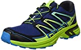 Salomon Herren Wings Flyte 2 Trailrunning-Schuhe, Blau (Blue Depths/Lime Green/Hawaiian Surf), Gr. 44