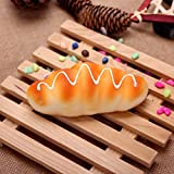 [ Kostenlose Lieferung - 7-12 Tage] 2pcs whomug stützt trigonometrisches creme Brot Geschirrschrank künstliches Brotmodell BML® // 2Pcs WhoMug-up Trigonometric Cream Bread Props kitchen Cabinet Artif