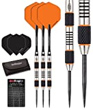 Red Dragon Amberjack 5: 24g – 90% Tungsten Darts (Steel Dartpfeile) mit Flights, Schäfte, Brieftasche & Red Dragon Checkout Card