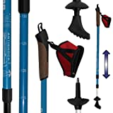 DENQBAR Nordic Walking Stöcke, Anthrazit-Schwarz, One Size