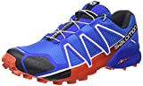Salomon Speedcross 4 Herren Trailrunning-Schuhe, Blue Yonder/Black/Lava Orange, 46 EU