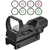 Reflexvisier Reflex Sight,Tactical 4 Different Reticles Red and Green Visier Dot Scope Rotpunkt RedDot Zielvisier Zielfernrohr Zielgerät with Rail Mount