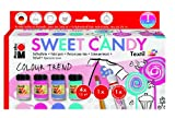Marabu 171600096 - Colour Trend Textilfarben Sweet Candy, 4 x 15 ml