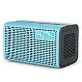 GGMM E3 Wi-Fi Lautsprecher Bluetooth Speaker Wireless Multiroom System Stereo Sound 10W, mit Wifi Repeater, LED Uhr Wecker und USB Ladeport für iOS & Android Geräte, Airplay/ DLNA/ Spotify (Blau)