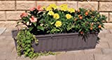 Blumenkasten 80 cm anthrazit mit Wasserspeicher MADE IN GERMANY