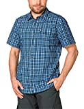 Jack Wolfskin Herren Hemd Crossley Shortsleeve Shirt, Moroccan Blue Checks, M, 1401891-7269003