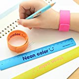 Lineal Slap Band 180 mm Party Toys Messung Schule Flexible Lineal Bruchsichere Stationery Farben sortiert 10er-Pack
