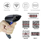 NETUM 2D QR Wireless Barcode Scanner Handheld Bar-code Scanner Imager Handheld mit USB-Kabel USB-Anschluss Lesen von Barcodes für PC Mac / Windows NT-W8