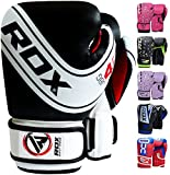 RDX Boxhandschuhe Kinder Muay Thai Boxsack Training Sparring Kickboxen Sandsack Junior Maya Hide Leder Boxing Gloves