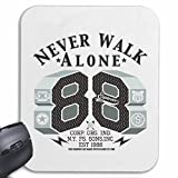Mousepad (Mauspad) 'NEVER WALK ALONE NEW YORK CITY AMERIKA CALIFORNIA USA ROUTE 66 BIKERSHIRT NY MOTORCYCLE NYC LIBERTY VEREINIGTE STAATEN BRONX BROOKLYN LOS ANGELES MANHATTAN' für ihren Laptop, Notebook oder Internet PC