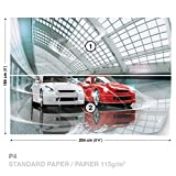 Fototapete Tapete Dekoshop Luxuriöse Autos Ausstellung AD1926P4 (254cm x 184cm) Photo Wallpaper Mural