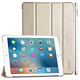iPad Air 2 Hülle, EasyAcc Ultra Slim Cover Schutzhülle Bumper Lederhülle mit Standfunktion / Auto Sleep Wake Up Funktion für iPad Air 2 2014 Modell Number A1566/ A1567 - Gold, Ultra Slim
