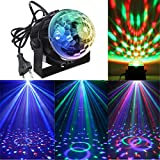 KINGSO Mini LED Lichteffekte Disco Licht Party Licht Bühnenbeleuchtung 3W RGB Sprachaktiviertes Kristall Magic Ball Bühnenlicht für Show Disco Ballsaal KTV Stab Stadium Club Party