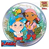 Qualatex 45241 Putzhobel 55,9 cm Single Bubble DN Captain Of The Never Seas 1 Bubble Ballon Pro Pack