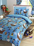 Pirate Blue Junior Toddler Bed Size Duvet Cover & Pillowcase Set by Bedmaker