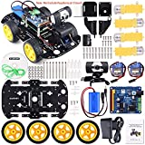 Kuman Professional WIFI Smart Robot Model Car Kit Videokamera for Raspberry Pi 3 RC Fernbedienung Robotik Elektronische Spielzeug Spiel Controlled by PC Android ISO App mit 8G SD Card (nicht enthalten Raspberry Pi) SM9