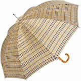 Knirps Regenschirm Stockschirm Long U check beige 539