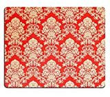 luxlady Gaming Mousepad Bild-ID: 33954726 Tapete Vintage rot mit golden Rose Design Barock Ornamente