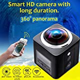 360 Grad Panorama Wireless VR 16 MP Kamera Action Sports WiFi 4 K HD 30 fps Wasserdicht 220 ° Linse 1440p Unterwasser Camcorder Outdoor Tauchen
