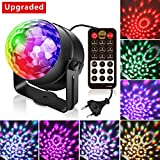 (3.Generation) Disco Lichteffekte, Christmas Party Licht Beleuchtung Discolicht Partylicht Led Disco Ball Light Partybeleuchtung Discokugel für Kinder Geburtstag Karaoke Club Lichteffekte Weihnach