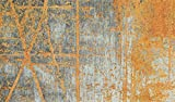 wash + dry 087625 Rustic Fußmatte, Acryl, orange, 70 x 120 x 0.9 cm