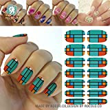 Kompletter Wrap Nail Art Wasser Transfer Aufkleber Sticker Spalier - K5676 Nail Sticker Tattoo - FashionLife