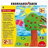 Eberhard Faber 578804 Fingerfarbe, 4 x 100 ml in Schachtel