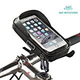 Fahrradtasche Fahrrad Rahmentasche Oberrohrtasche Fahrrad Tasche Handy halterung Sensitive Touch-Screen Wasserdicht Groß Schwarz für iPhone X / 8 / 7/ 7Plus / 6 / 6s / 6Plus / Samsung Galaxy S7/S7