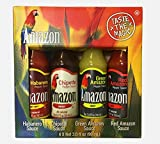 Amazon Chili - Auswahl aus 4 Saucen (Habanero, Chipotle, Green and Red Pepper) - ideal als Geschenk- oder Probierset, 1er Pack (4 x 90 ml)