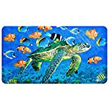 Non-Slip Bath Mat – YoLife Shower Mat Bathroom Anti Slip Mat Antibacterial Plus Reinforced Suction Cups (turtle)