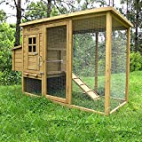 Pets Imperial® Devonshire Large Chicken Coop Hen House Ark Poultry Run Nest Rabbit Hutch Box Suitable For Up To 4 Birds - Integrated Run & Cleaning Tray & Innovative Locking Mechanism