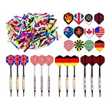 Kings Dart Dartpfeile Spar-Set 'Allround' mit 12 Turnierdartpfeilen, 36 Full Dart Flights und 500 Dartspitzen
