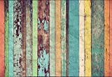 Colored Wooden Wall Vlies Fototapete 8-teilig Tapete 366x254cm Bildtapete