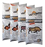 Wild Spartan Jerky Probierset, Rind Classic, Rind Steakfire, Pute Classic, Pute Chili, 4er Pack (4 x 40g)