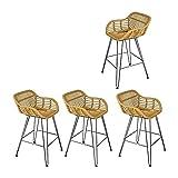 Minimalistischer Freizeitstuhl Retro Loft im chinesischen Stil Korbstuhl Metallstuhl für...