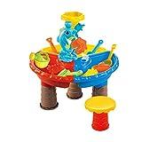 Kinder Strandtisch Spielzeug-Set & Wassertisch Outdoor Garten Sandkasten Set Spieltisch...