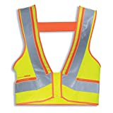 Uvex Protection Active Flash Arbeitsweste - Gelb-Orange Unisex-Sicherheitsweste - Aktives Lichtleitersystem L