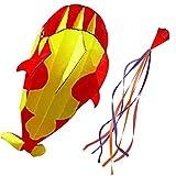 Drachen für Kinder, Kreative 3D-Drachen, große Blaue Delphin Stranddrachen, Easy Flyer...
