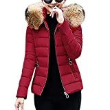 Ears Frauen Wintermantel Warme Jacken Kunstpelz Kapuzenmantel Slim Cotton Coat gepolsterte Jacken Langarm Kapuzenjacke Slim fit Mäntel Winterparka Plus Size Strickpullover Strickjacke