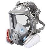 Enjohos - Vollmaske Atemschutzmaske, 2 integrierte Filter, CE-zertifiziert, Silikon, für...