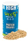 Veety Vegan Erbsen Protein Crispies -Neutral | 63% Protein | Sojafrei und Zuckerfrei | Made in Bavaria | 400g