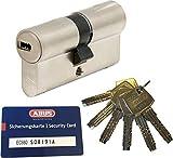 ABUS EC660 Profil-Doppelzylinder Länge (a/b) 40/50mm (c=90mm) mit 6 Schlüssel, mit...