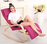 Xiao Lazy Chair Home Indoor Schaukelstuhl moderner minimalistischer Liege für Erwachsene Siesta Chair (Color : Purple)