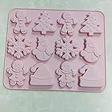 ABRC Lebkuchen-Mann-Schneeflocke Weihnachten Schokolade Silikon-Form-Biskuit-Süßigkeit...