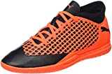 Puma Unisex-Kinder Future 2.4 IT JR Fußballschuhe, Schwarz Black-Shocking Orange 02, 35 EU