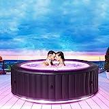 Miweba MSpa aufblasbarer Whirlpool Aurora U-AU06 Outdoor für 6 Personen - inkl. LED RGB -...