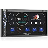 7 Zoll Doppel-DIN Digital Media Autoradio-Empfänger, aboutBit Bluetooth 5.0 Touchscreen Autoradio MP5-Player, unterstützt Rück- / Frontkamera, AM/FM / MP3 / USB/Subwoofer, AUX-Eingang, Mirror Link